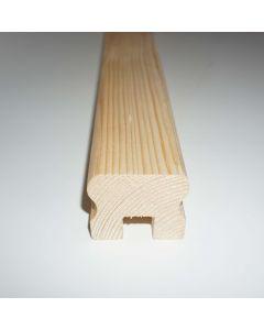 Mână curentă din molid pentru balustradă/balcon, lungime 2500 mm
